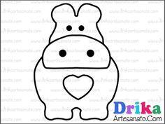 Patchwork moldes hipopótamo em patch aplique • Drika Artesanato - O seu Blog de Artesanato.