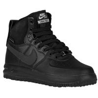 Nike Lunar Force 1 Sneakerboots - Boys' Grade School - All Black / Black