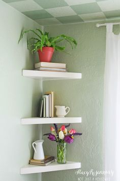 corner shleves1 682x1024 Floating Corner Shelves