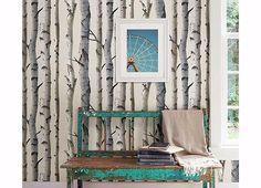 Birch Tree Wall Paper, The Alley Exchange,tree wallpaper,interior wallpaper,birch tree,brewster wallcoverings birch tree wallpaper,nature themed wallpaper,patrick david