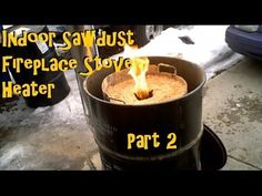 Sawdust Stove Cabin Garage Rocket Stove Heater PART 2 - YouTube