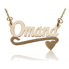 This 18K Solid Yellow Lower Spakling Heart Pendant name necklace is pretty unique and adorable, making it a perfect gift for your partner, close friend or a female family member.