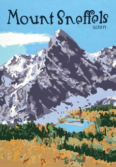 Mt. Sneffels - Acrylic on Canvas.  Original art and high quality goache prints by Julie Leidel.  See (and maybe even buy) her work at www.bungalowcraft.com.