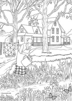 Country Spring - Spring Flowers - Favoreads - Netflix for Coloring Addicts!