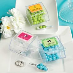 Personalized Wedding Candy Bin & Scoop Favors (FashionCraft 6765ST) | Buy at Wedding Favors Unlimited (https://www.weddingfavorsunlimited.com/personalized_wedding_candy_bin_and_scoop_favors.html).
