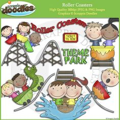 Roller Coasters Clip Art Cute kid friendly clipart for your teacher resources. Visit our website for more information.