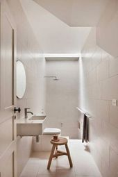Door will open from the side that the long towel rail is on. Ensuite Bathrooms, Towel Rail, Minimalist Bathroom, Long A, Shower Heads, Melbourne, Scandinavian, Home And Family, Doors