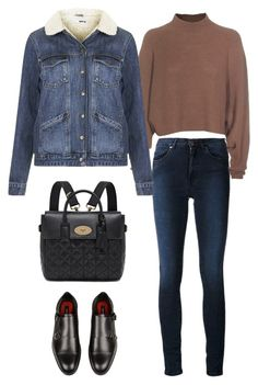 """""""Acne Studios High-waisted Skinny Jeans"""" by junglover ❤ liked on Polyvore featuring Acne Studios, Topshop and Mulberry"""