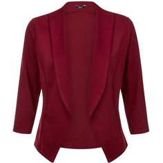 Teens Burgundy Blazer (330 ZAR) ❤ liked on Polyvore featuring outerwear, jackets, blazers, slim jacket, slim fit jacket, red slim fit blazer, open front jacket and burgundy jacket