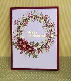 w/Scarlet Jewel, Pure Poppy, Prarie Grass, Simply Chartreuse- Kathryn's Cards: PTI Stamps 2015