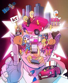 Various Illustrations Works 2012 by Sakiroo Choi, via Behance Character Illustration, Illustration Art, Art Addiction, Types Of Art, Love Art, Creative Art, Illustrations Posters, Sculpture Art, Street Art