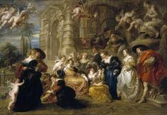 El jardín del Amor. Museo Nacional de El Prado.  Madrid.