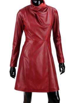 Płaszcz skórzany damski DORJAN EST463