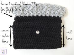 Fiber Flux...Adventures in Stitching: Free Crochet Pattern...Precious Metal Clutch!  -- http://www.fiberfluxblog.com/2014/12/free-crochet-patternprecious-metal.html