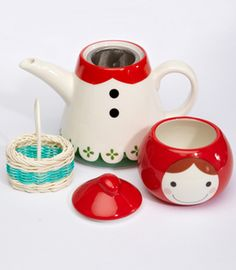 Little Red Riding Hood Tea Pot $44. I don't remember if I pinned this before
