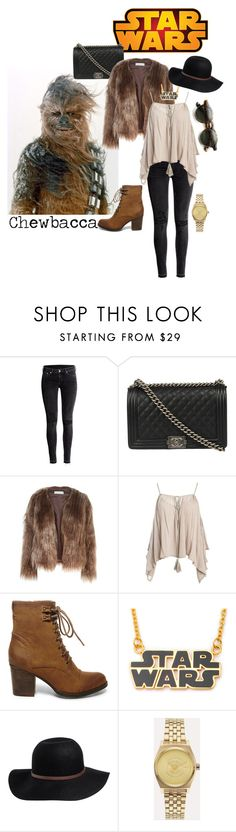 """""""Disney-a-Day"""" by christina-sherwood29 on Polyvore featuring H&M, Disney, Chanel, Related, Sans Souci, Steve Madden, RVCA and Nixon"""