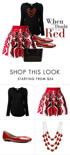 """When in Doubt Wear Red"" by arletamw ❤ liked on Polyvore featuring Splendid, Alexander McQueen, Steve Madden, Croft & Barrow and Ampersand As Apostrophe"