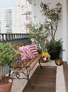 Móveis e plantas para terraços e varandas - Casa
