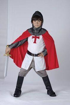 Value - Disfraz de caballero cruzado para niño, talla M (122 cm) (CC789)