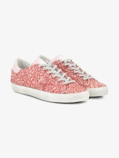 size 40 a7a48 2d511 Golden Goose Deluxe Brand Superstar Glitter Sneakers Pink Sneakers, Leather  Sneakers, Flats, Sandals