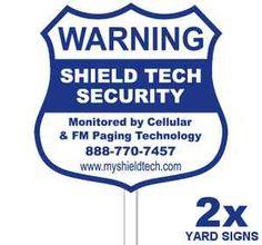 USED METAL HOME STORE SECURITY ALARM CAMERA SYSTEM BURGLAR WARNING YARD SIGN LOT