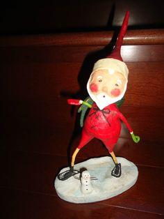 Lori Mitchell Santa with Lil Snowman Christmas Folk Art Figurine   eBay