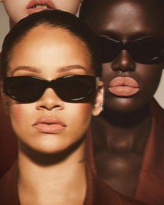 ca5b1d8f40efb Rihanna and Ajak Deng front Fenty Beauty Stunna Lip Paint campaign
