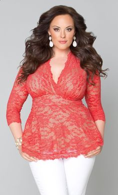Clothes for Romantic Night - Clothes for Romantic Night - Our plus size coral Linden Lace Top is on sale for only $30 for a limited time! www.kiyonna.com #KiyonnaPlusYou #MadeintheUSA #Deals - If you are planning an unforgettable night with your lover, you can not stop reading this! - If you are planning an unforgettable night with your lover, you can not stop reading this!