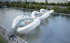 Un pont-trampoline à Paris! | Archiboom, l'architecture et le design par ceux qui les font ! - Blog CotéMaison.fr