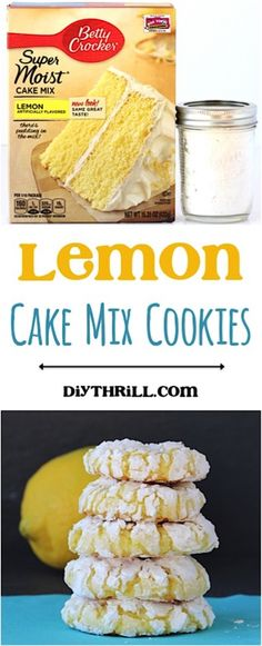 Lemon Cake Mix Cookies Recipe!  This EASY Cookie Recipe takes just 4…