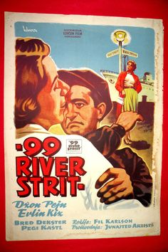 99 RIVER STREET 1953 PEGGIE CASTLE EVELYN KEYES JOHN PAYN RARE EXYU MOVIE POSTER