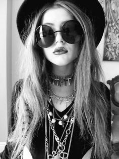 I will try this outfit some day... So cool  glam boho rocker
