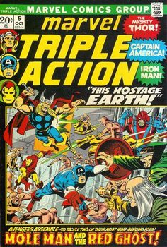 Reprints Avengers #12. Cover by Sal Buscema.