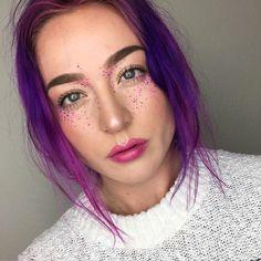 Coloured freckles.