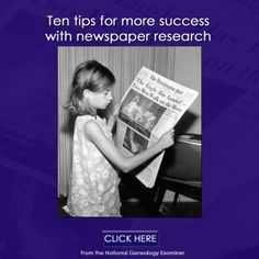 Tried searching for your ancestor in newspapers? See: Ten tips for more success with newspaper research http://www.robinsavingstories.com/2016/07/ten-tips-for-more-success-with.html #genealogy