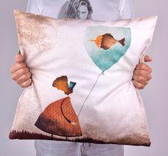 Almofadas Impressa - Printed Throw Pillow From 23€ at http://versestore.com/products-page/almofadas/almofada-balao-dagua/