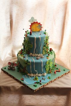 Jungle cake for Michael by Andrea's SweetCakes, via Flickr