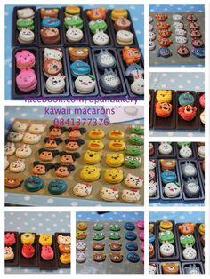 Disney tsum tsum macarons Tsum Tsum Party, Macaroon Cake, How To Make Macarons, French Macaroons, Tsumtsum, Cute Cookies, Disney Food, Desert Recipes, Biscotti