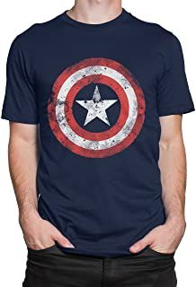 T-Shirt Homme Marvel Capatain America Shield Shattered