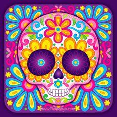 Little Sonrisa Colorful Skull by Thaneeya McArdle