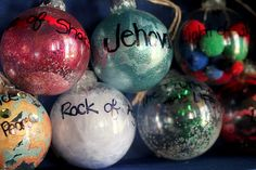 25 Days of Jesus - decorate an ornament and put one on your tree each day and talk about what that name of Jesus means with your kids.