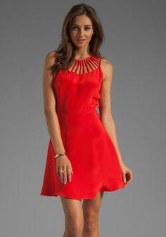 PARKER Sarah Dress in Cherry