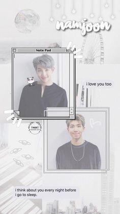 BTS Photos & More - Wallpapers: Namjoon - Wattpad Bts Backgrounds, Aesthetic Backgrounds, Aesthetic Wallpapers, K Pop, Namjoon, Taehyung, Rapmon, I Love Bts, My Love