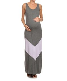 192447d1d67 Chris  amp  Carol Charcoal Maternity Maxi Dress by Chris  amp  Carol  Maternity  zulily
