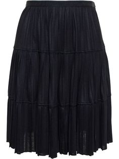 GIVENCHY Pleated Jersey Skirt. #givenchy #cloth #skirt