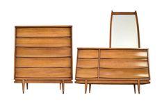 Mid Century Modern 3-Piece Dresser Set  by RetroTherapyRehab