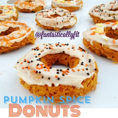 Healthy Pumpkin Donuts - got to try and make these for my coworkers working hard to eat healthy :)