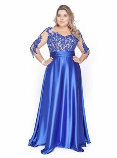 Vestido de madrinha plus size 30 плюс мода, платья для полных, атласные пла Satin Dresses, Elegant Dresses, Blue Dresses, Beautiful Dresses, Gowns, Vestidos Plus Size, Plus Size Dresses, Plus Size Outfits, Plus Size Girls