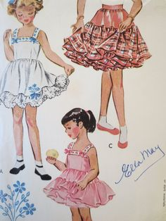 Vintage McCall's 1684 Sewing Pattern, Girl Slip Pattern, 1950s Petticoat Pattern…