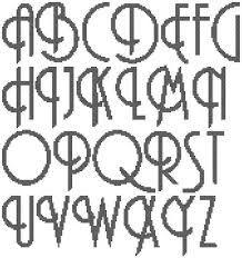 Image result for art nouveau cross stitch alphabet